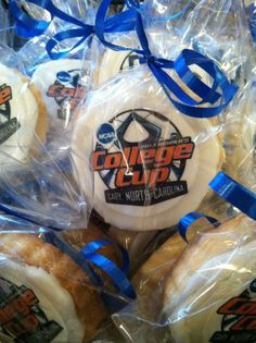 Custom logo cookies by Patisserie at The Matthew House. Great idea for corporate event favors!