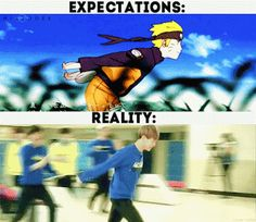 Naruto Running with K-pop star lol