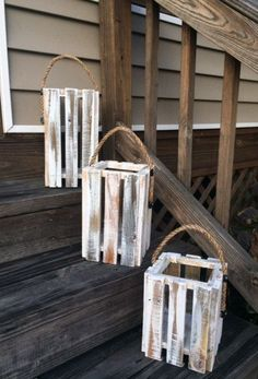Rustic Shed Heads is offering you these gorgeous White Washed Lantern Candle Holders in a set of 3 . The Rustic White Washed, Pallet Lanterns measurements Lantern Candle Holders, Candle Holder Set, Candle Lanterns, Homemade Candle Holders, Rustic Candle Holders, Candle Sconces, Small Lanterns, Rustic Lanterns, Ideas Lanterns