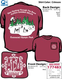 GT Alpha Gam Date Night shirt
