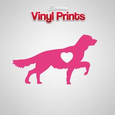 Golden Retriever Dog Car Decal - Heart - Personalize - Dog Lovers - Pet -  Sticker - Vinyl Decals - Laptop - Love - CustomVinylPrints on Etsy, $2.99