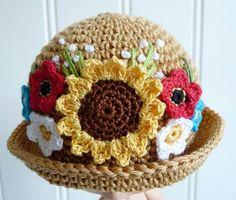 Beautiful crocheted hat