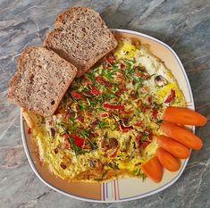 Zucchini-Champignon-Paprika-Omelette