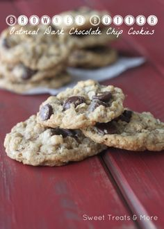 My Favorite cookie recipe to date! Browned butter oatmeal chocolate chip cookies!