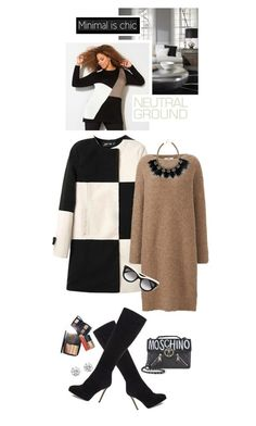"""Cool Neutrals"" by shortyluv718 ❤ liked on Polyvore featuring Avenue, Uniqlo, Stella & Dot, STELLA McCARTNEY, Jimmy Choo, Moschino, Chanel, Kenneth Jay Lane and neutrals"