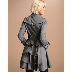 Bustle Trench Coat
