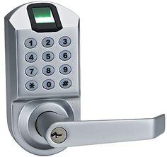 Ardwolf A1 No Drills Needed Keyless Keypad Biometric Fingerprint Door Lock, Unlock with Fingerprint Key Password – Satin Chrome