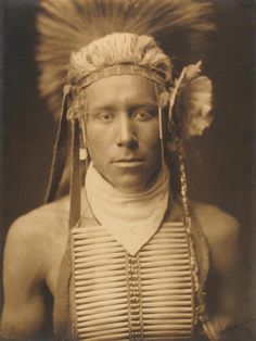 Unpublished Indian Brave w/Breast-Plate, 1905 • Platinum by Edward Sherriff Curtis: b. Near Whitewater, Wisconsin, February 19, 1868 d. Whittier, California, October 19, 1952