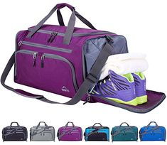 6b884bd82d4f Venture Pal Packable Sports Gym Bag with Wet Pocket   Shoes Compartment Travel  Duffel Bag for men and Women-Green