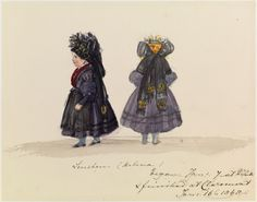 A watercolour of Princess Helena by her mother, Queen Victoria c. January 1848. Helena is wearing a Thüringen peasant costume (as part of the New Year's celebrations) (Royal Collection)
