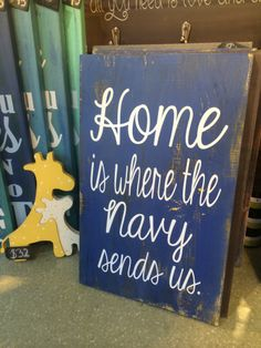 Home is Where the Military Sends Us from Dear Olympia | Hand Painted Military Signs | Decor | CeCe Caldwells Paints | Navy | Army | Marine Corps | Coast Guard | Air Force