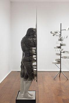 Nick van Woert- Disappear Fiberglass, urethane plastic, steel pedesta
