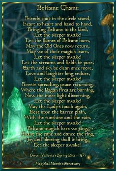 Beltane Chant- Doreen Valiente's Spring Rite 1971, grapics by Magickal Moonie's Sanctuary
