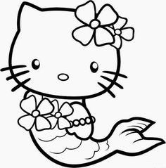 How To Draw Mermaid Hello Kitty Step By Characters Pop