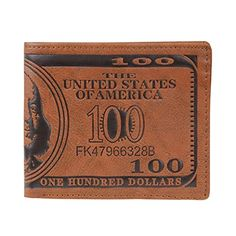 Women Wallet Morecome US Dollar Bill Wallet Brown PU Leather ** Click image to review more details.