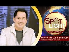 Watch another episode of Pastor Apollo C. Quiboloy's newest program, SPOTLIGHT. For your messages and queries, you can comment it down below so our Beloved P. Spiritual Enlightenment, Spirituality, Cute Dog Wallpaper, New Jerusalem, Kingdom Of Heaven, T Lights, Great Leaders, Son Of God, Praise And Worship