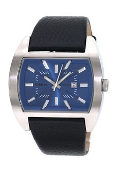 3680792887f Blue dial with a black genuine leather band and stainless steel case. Diesel  Men s Stainless Steel Case Blue Dial Watch gives people a sense of elegance  and ...