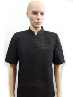 เสื้อสูทชายผ้าไหมอิตาลี่คอพระราชทานสีดำ เสื้อสูทชายสีดำ สูทผ้าไทยชาย ซาฟารีผ้าไทยชาย สูทผ้าไหมสีดำ สูทผ้าไทยคอพระราชทานสีดำสีดำ ซาฟารีชายสีดำ PRODUCT ...