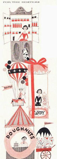 illustration by denny hampson 1956