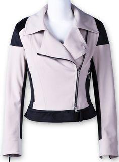 Apricot Long Sleeve Side Zipper Crop Outerwear
