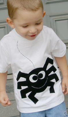 Sammy Spider Boys Custom Applique Tshirt. $23.00, via Etsy.