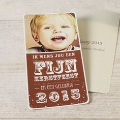 Fotokaart | Tadaaz #kerstfeest #fotokaart #bruin #bestewensen