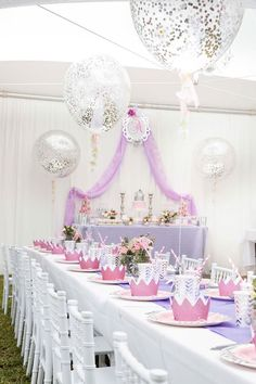 Elegant Purple Princess Birthday Party on Kara's Party Ideas | KarasPartyIdeas.com (6)