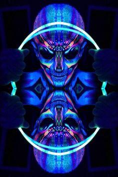 Neon face paint