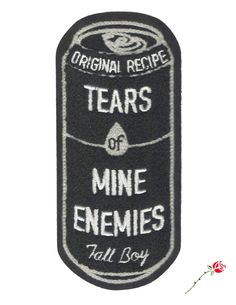 Image of Tears of Mine Enemies XL Chenille patch