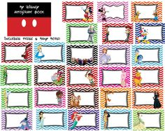 Disney Autograph book July 4th themed Printables! 50+ pages! $15 by TheMommyMermaid on Etsy.