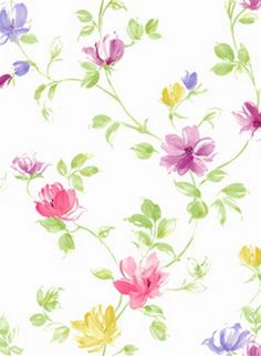 Purple and Pink Simone Floral Trail Wallpaper, SBK22235