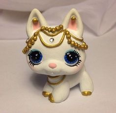 Littlest pet shop * Jewel * Custom Hand Painted LPS Dog OOAK #Hasbro
