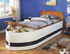 Love this bed for R!! Boys room