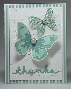 Stampin' Up! Watercolor Wings in Mint Macaroon