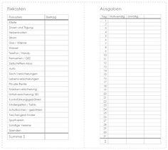 Neuer Monat, neue Einlagen für den Filofax :-)    Heute habe ich eine Monats-Einlage  mitgebracht, die in ganz einfacher Form an die Budget-...