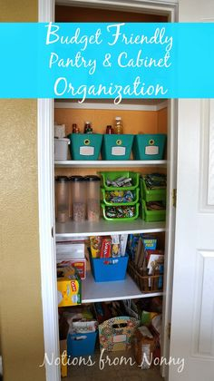 Notions from Nonny: Budget Friendly Pantry & Cabinet Organization