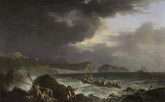Jean-Baptiste TIERCE, (Rouen, 1737 - ?, 1794), Une tempête, 1751-1800, huile sur toile. Inv. 2004 1 393. Non exposée. Daniel Martin