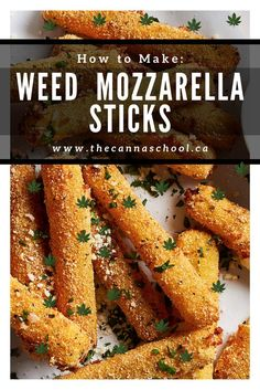 Mozzarella sticks are one of my all-time favourite snacks. For this reason, I had to figure out a way to infuse them with cannabis. Weed Recipes, Marijuana Recipes, Cooking Recipes, Healthy Recipes, Cooking With Marijuana, Cannabis Cookbook, Cannabis Edibles, Food Porn, Yummy Food