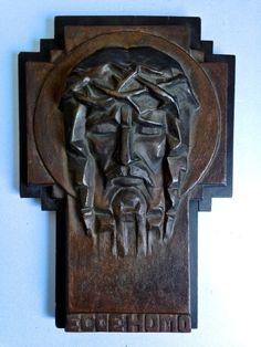 MODERNISTISCHE AMSTERDAMSE SCHOOL STIJL  BRONZEN ART DECO PLAQUETTE  UIT DE 1920's nu op @kunstveiling Online