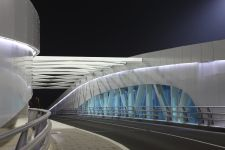 Modern bridge at Abu Dhabi