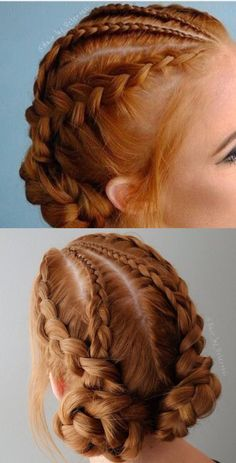 These braids are so Cute! - New Site These braids are so Cute! - - These braids are so Cute! These braids are so Cute! Box Braids Hairstyles, French Braid Hairstyles, Cool Hairstyles, 1950s Hairstyles, Hairstyles 2018, Updos With Braids, Wedding Hairstyles, Medieval Hairstyles, Crown Braids