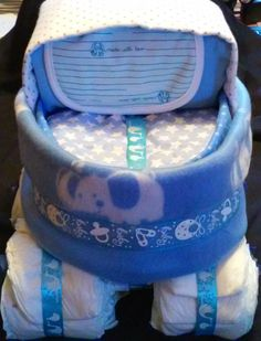 Boys Baby Carriage Diaper Cake by KEBridalShop on Etsy