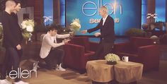 Nathan being an adorable gentlemen to Ellen :)