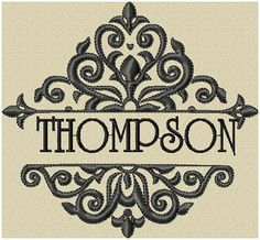 Machine Embroidery Design  Flourish Name Frame by BlingSassSparkle