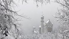 The castle Neuschwanstein is seen March 2006 in the snow covered landscape in Schwangau, Bavaria. The castle was rebuilt by the King of Bavaria from 1864 to 1886 and was opened to the public seven weeks after the death of King Ludwig II in 1886. (JOHANNES SIMON/AFP/Getty Images)
