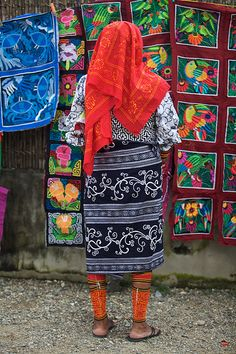 Woman Selling Molas - Panama
