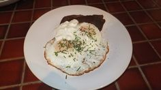 Low Carb Steak and Eggs with Sour Cream and Chives