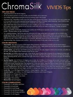 pravana vivids color mixing chart: Pravana vivids formula chart found on pravanaconnect com rad