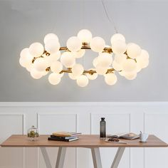 Find More Pendant Lights Information about DNA LED Pendant Light Modern magic beans hanging lights Nordic Art Globe glass shade dinning room industrial lamps Home Lighting,High Quality led pendant light,China pendant light modern Suppliers, Cheap pendant lights from Zhongshan New Life Lighting Ltd on Aliexpress.com