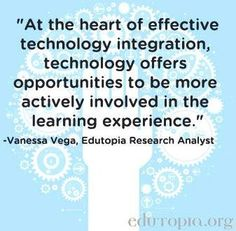 Technology and education quote via www.Edutopia.org